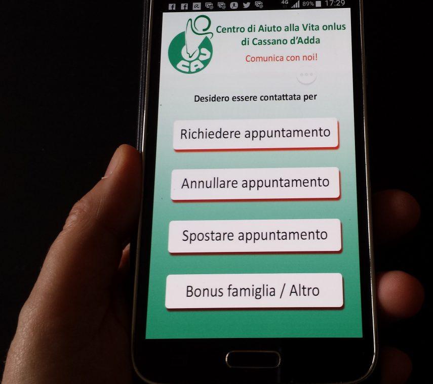 App per smartphone Android ComuniCav