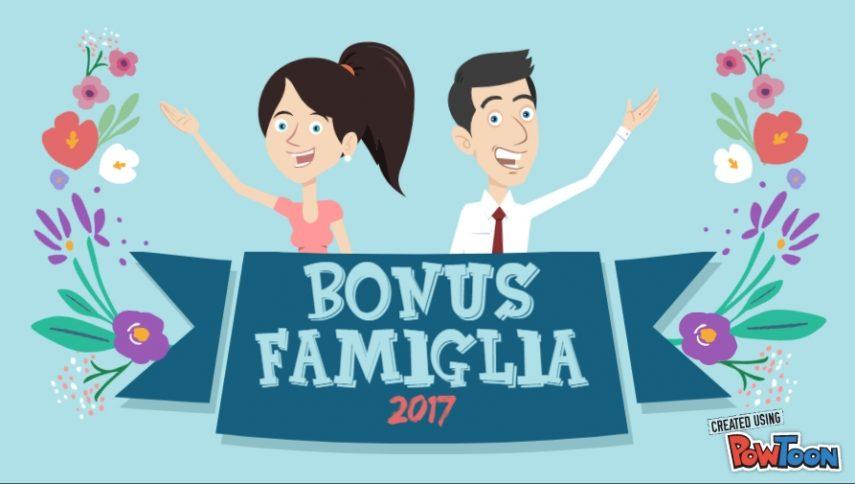 Video bonus famiglia 2017