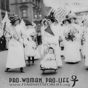 Manifestazione delle prime femministe americane (primo '900)