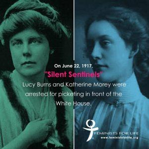 Le suffragette Lucy Burns e Katherine Morey