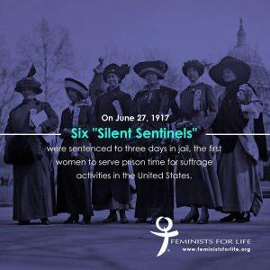 Picchetto di suffragette davanti alla Casa Bianca